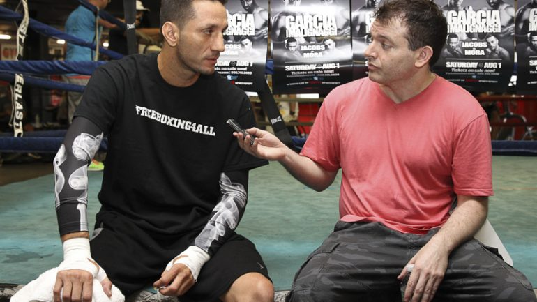 Danny Garcia-Paulie Malignaggi workout 7-30-15 by Ed Diller/DiBella Entertainment
