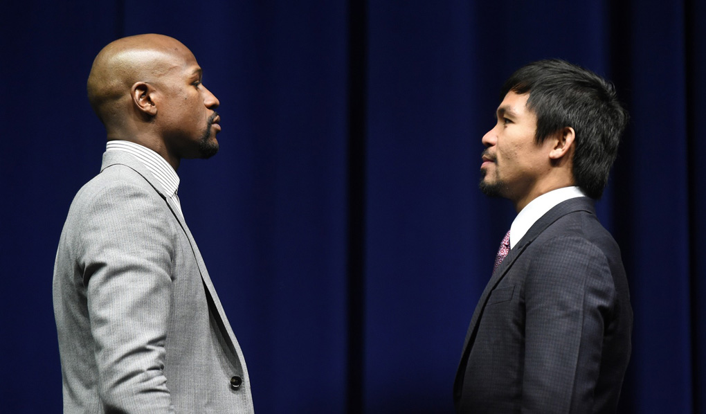 floyd mayweather manny pacquiao press conference 3 11 15 08 photo by naoki fukuda - Can Manny Pacquiao just let it go and stop talking about fighting Floyd Mayweather Jr.?