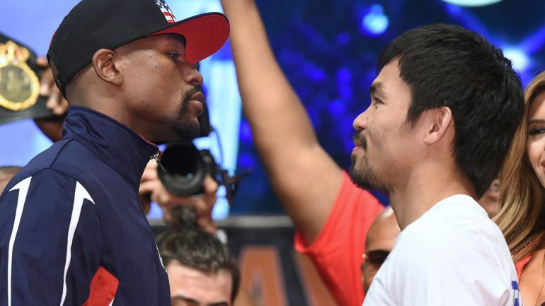 Floyd Mayweather Jr.-Manny Pacquiao weigh-in by Naoki Fukuda