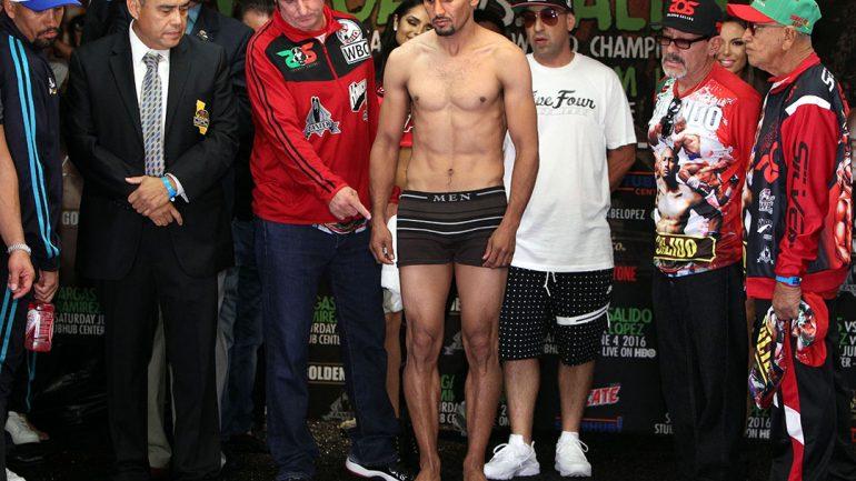 Francisco Vargas-Orlando Salido weigh-in by Chris Farina