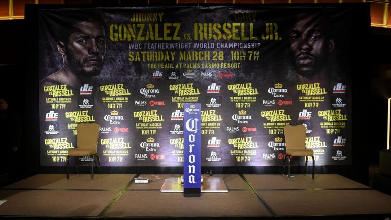 Jhonny Gonzalez vs. Gary Russell Jr. weigh-in by Naoki Fukuda