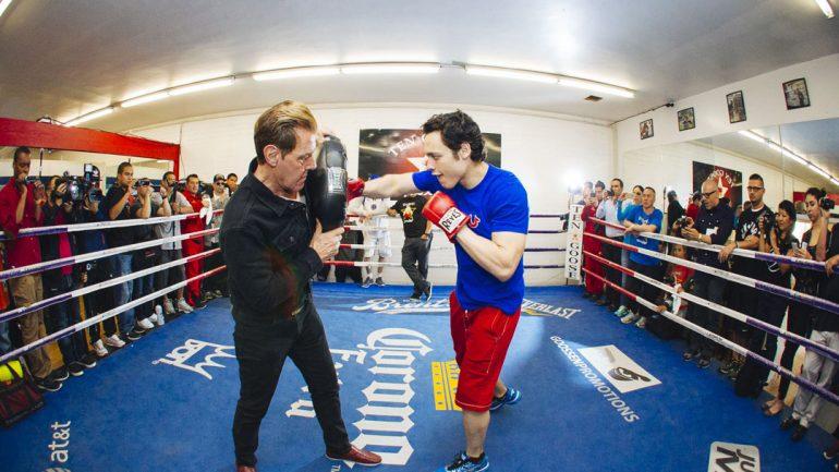 Julio Cesar Chavez Jr. workout 4-13-15 by Esther Lin/Showtime