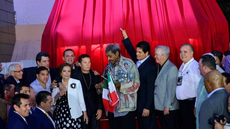 Julio Cesar Chavez statue unveiling 2-6-15