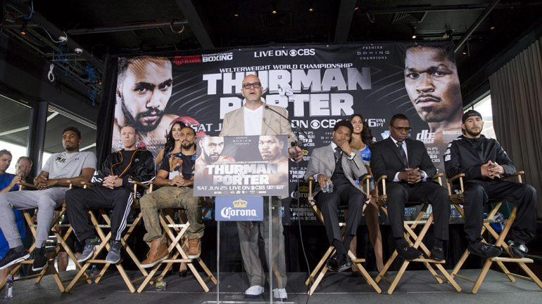 Keith Thurman-Shawn Porter final press conference by Esther Lin/Showtime