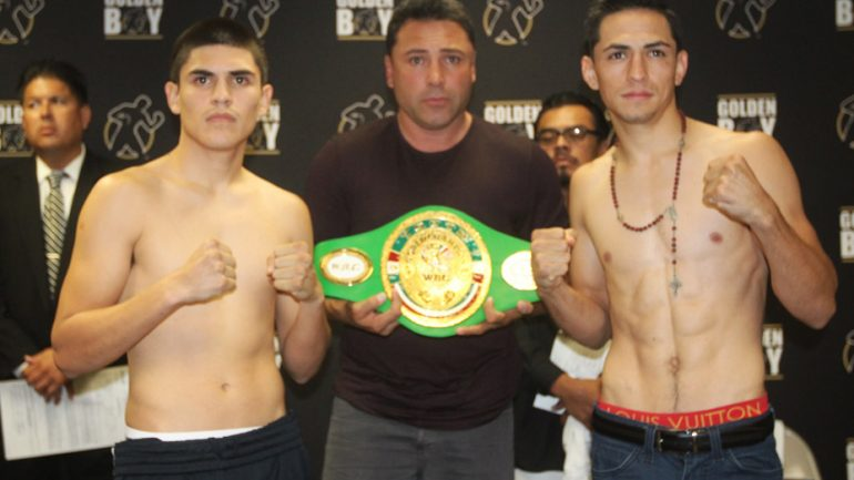 LA Live 9-4-15 weigh-in by Golden Boy Promotions