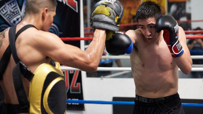 Leo Santa Cruz workout 8-11-15 by Suzanne Teresa/PBC