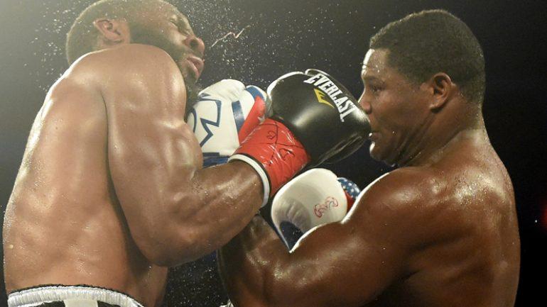 Luis Ortiz vs. Bryant Jennings, Nicholas Walters vs. Jason Sosa card by Naoki Fukuda