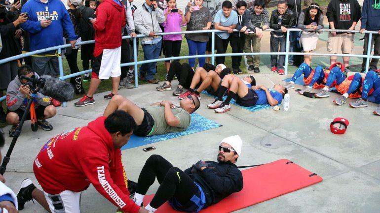 Manny Pacquiao jog 4-14-15 by Chris Farina