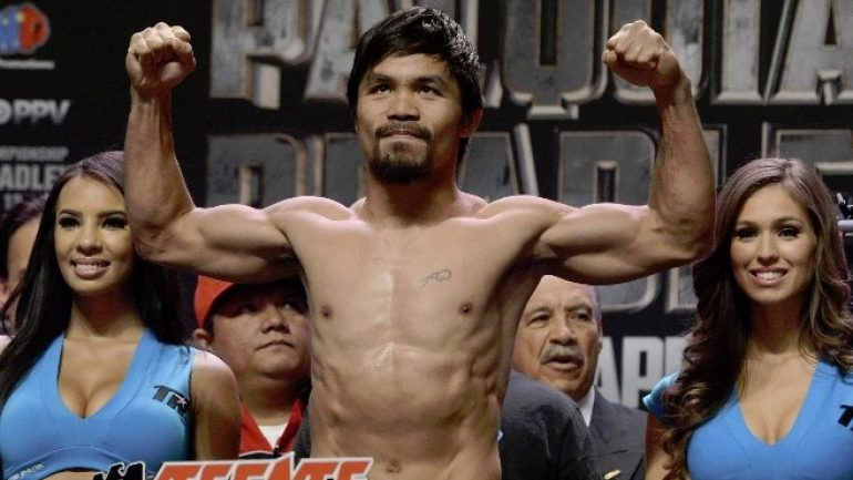 Pacquiao noncommittal on fighting after Nov. 5