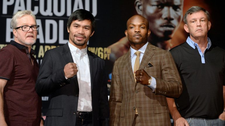 Manny Pacquiao-Tim Bradley III final press conference by Naoki Fukuda