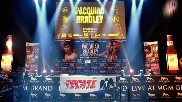Manny Pacquiao-Tim Bradley III weigh-in by Naoki Fukuda