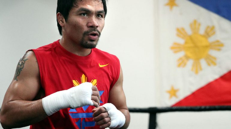Manny Pacquiao workout 3-10-15 by Chris Farina