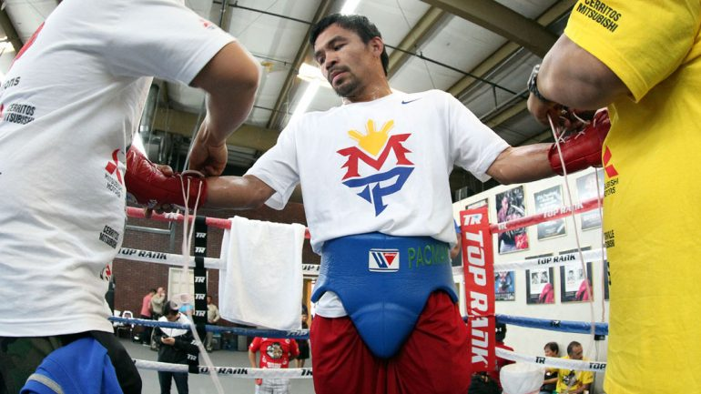 Manny Pacquiao workout 4-28-15 by Chris Farina