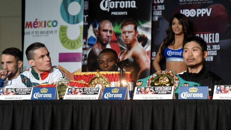 Miguel Cotto and Canelo Alvarez undercard press conference by Naoki Fukuda