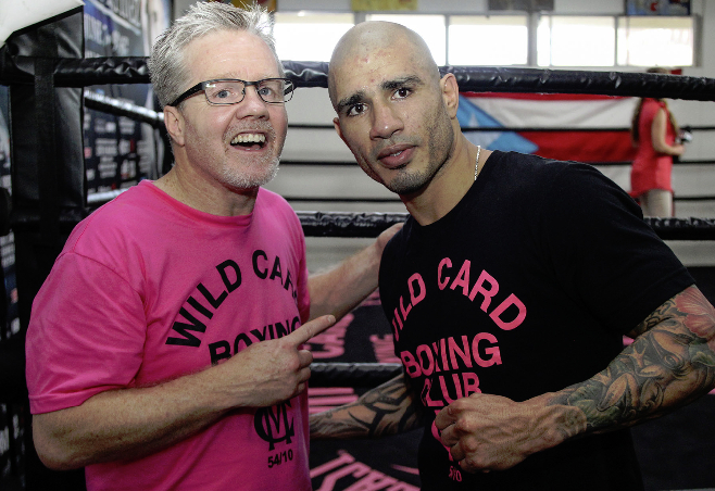 miguel cotto media day may 28 2014 10 photo by chris farina top rank - Dougie's Friday mailbag (changing trainers, Crawford and Spence, tattoos)