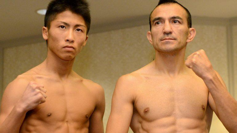 Omar Narvaez-Naoya Inoue weigh-in photos by Naoki Fukuda