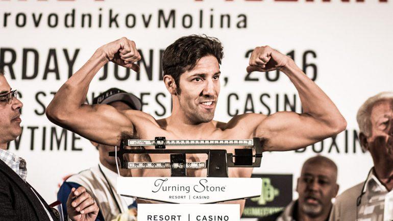 John Molina Jr. targeting June return after Crawford loss